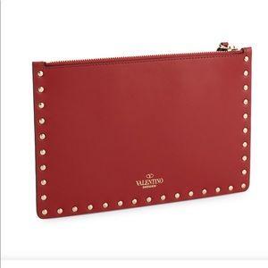 Valentino rockstud zipper pouch
